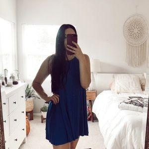 Forever 21 Ribbed Swing T-Shirt Dress Blue Medium